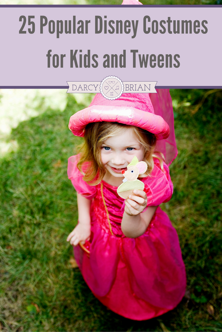 Looking for kids costumes and dress up ideas? Check out this list of popular Disney Halloween Costumes for girls, boys, teens, and tweens. These are perfect for pretend play too!