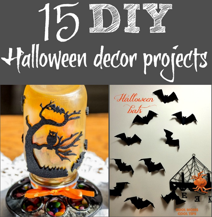 Looking for DIY Halloween decorations you can make? Check out this list of 15 fun and spooky homemade Halloween decor craft projects.