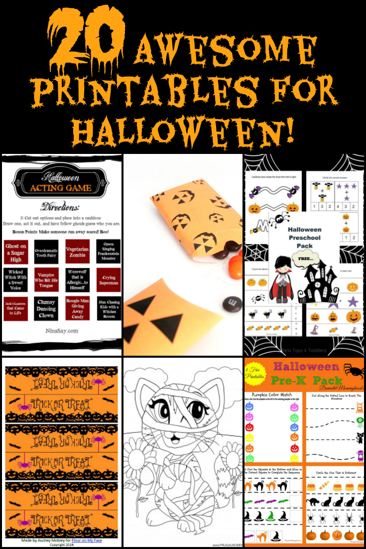 photograph regarding Free Printable Halloween Crafts called 20 Cost-free Halloween Printables for Loved ones Exciting Functions