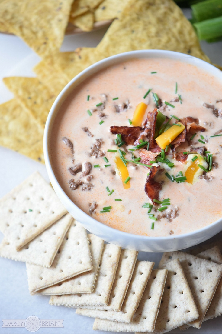 This delicious bacon cheeseburger dip recipe is easy to make. It will be your new go to party dip recipe!