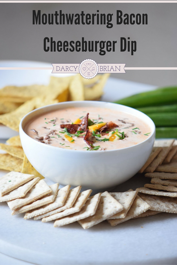 Score major points with this mouthwatering Bacon Cheeseburger Dip recipe. It's a quick and easy party dip that will please your guests. Perfect for game day too!