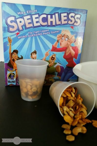 Looking for a fun quiet game to play at your next game night party? Check out our review of the game Speechless and get an easy snack mix recipe too! This game is a great option if you are hanging out with friends while baby is napping.