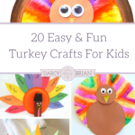 Turkey Crafts are essential for celebrating Thanksgiving! Check out our top picks for 20 Easy & Fun Turkey Crafts For Kids to do this year for Thanksgiving!