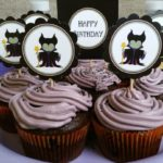 Maleficent cupcake toppers for a fun birthday party.