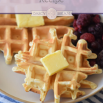 Buttermilk Waffle Recipe: Make everyone's favorite breakfast treat with this easy Buttermilk Waffle Recipe with blackberries. Delicious, easy, and classic! Your family will love this simple homemade waffles recipe that cooks up in minutes in your waffle maker.