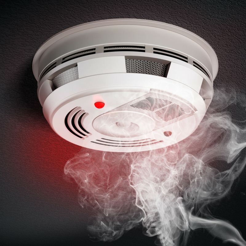 Working smoke detectors are an important part of a family fire safety plan.