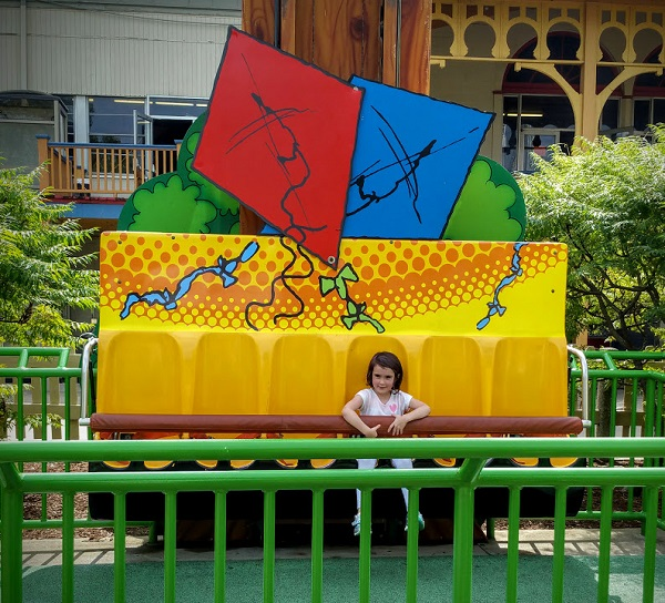 Kid friendly rides for five year olds at Cedar Point park.