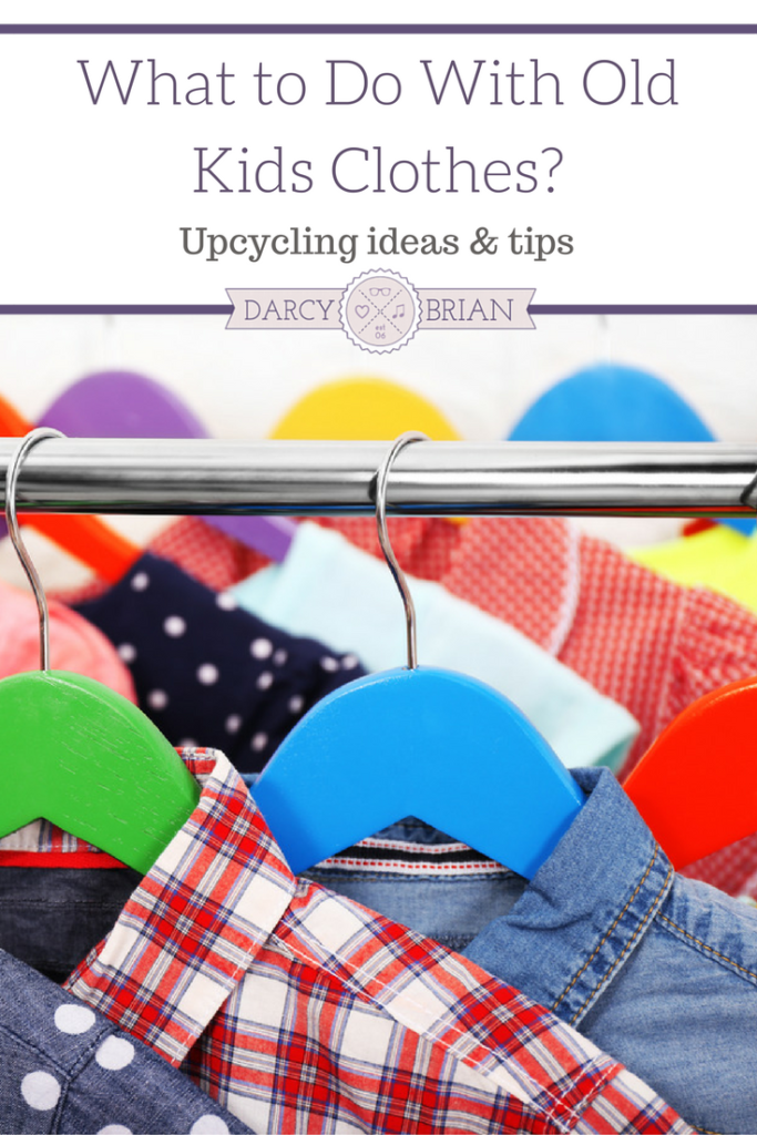 Decluttering old kids clothes? Not sure what to do with outgrown clothing? Check out these tips for upcycling kids clothing, donating, or reselling them.