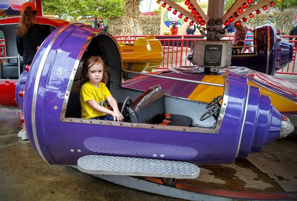 Kid friendly rides for three year olds at Cedar Point.