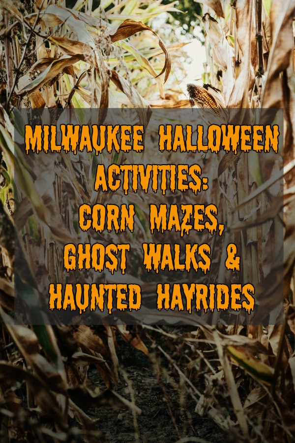 Looking for fun and spooky Halloween activities near Milwaukee, Wisconsin? Check out this list of haunted cornfields, family friendly corn mazes, ghost walks, and haunted hayrides.