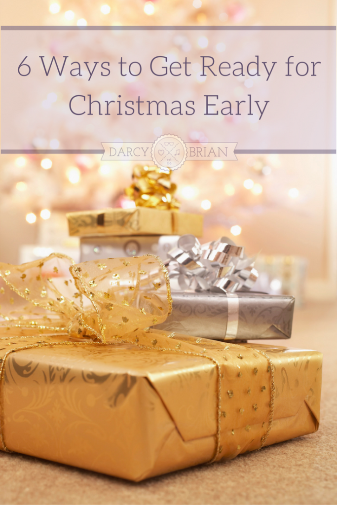 Does your Christmas to-do list of Christmas cards, holiday baking, shopping for gifts, etc. stress you out? Plan ahead for the holidays with these 6 things to get done early for Christmas so you can enjoy more time with your family!