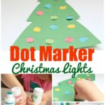 Looking for fun and easy Christmas crafts for kids of all ages? Toddlers, preschoolers, and kindergartners will love this step-by-step Dot Marker Christmas Tree Lights craft tutorial. Great classroom activity too!