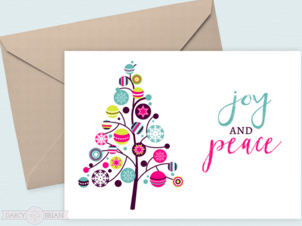 Joy and peace free printable holiday cards m4hsunfo