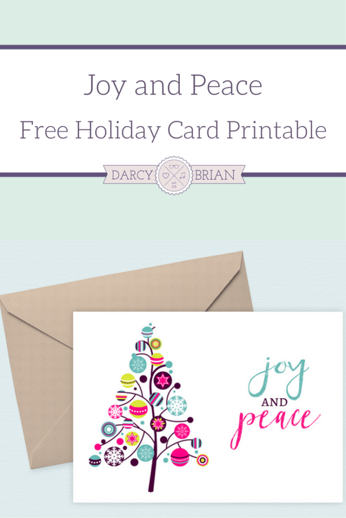 Save time and money with these free Joy and Peace printable holiday cards by printing out the exact number you need. Perfect for last minute Christmas cards!