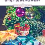 Save money and stay within your budget during the holidays with our top Christmas Shopping Savings Tips. These tips help keep me organized while shopping for Christmas gifts! Whether you shop online or in the store or if you plan ahead or are a last minute shopper, these tips will keep you on track.