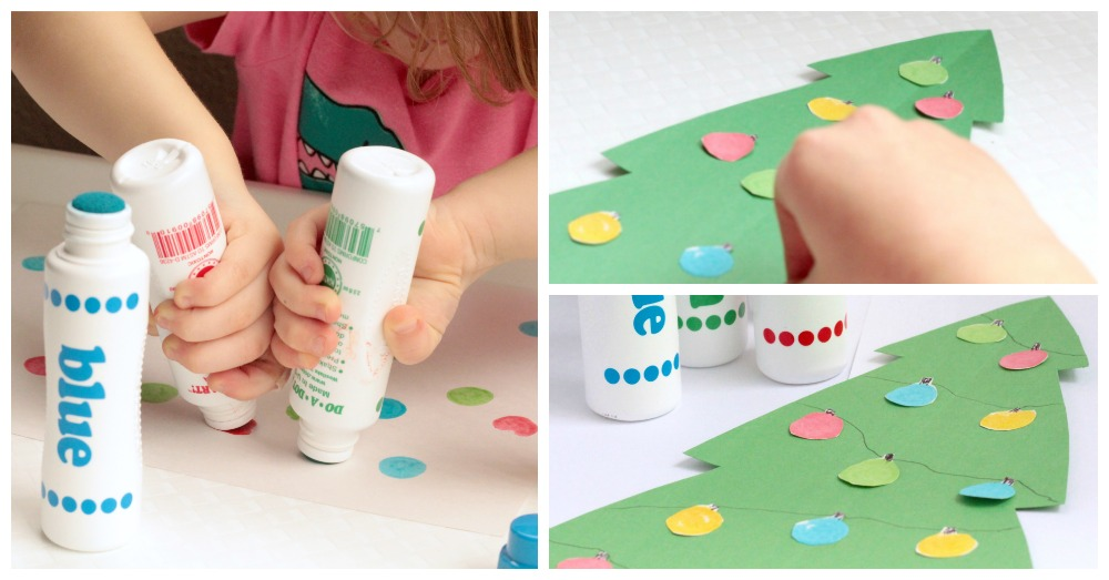Christmas Crafts For Kids: Dot Marker Christmas Tree
