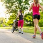 5 Tips to Get Healthy Using A Baby Jogger Stroller - There are many important pieces to a new mom's postpartum care including her mental and physical health. Getting out for a walk or run is good for mom and baby. Staying active is excellent self-care and the fresh air may help baby nap. (My kids loved the motion of a moving stroller!)