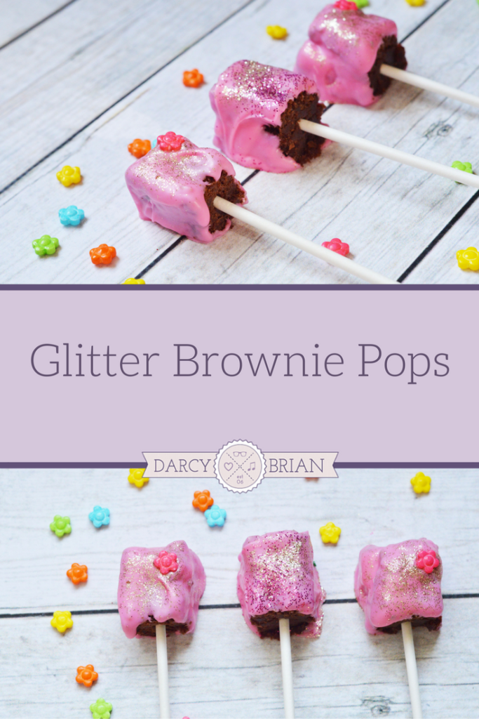 Princess Tea Party Glitter Brownie Pops