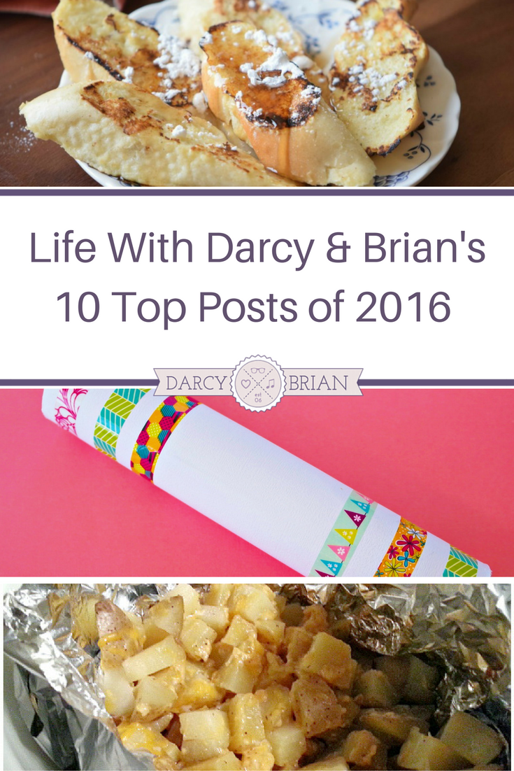 Life With Darcy & Brian's 2016 highlights and top 10 posts of the year. (Blog year in review)