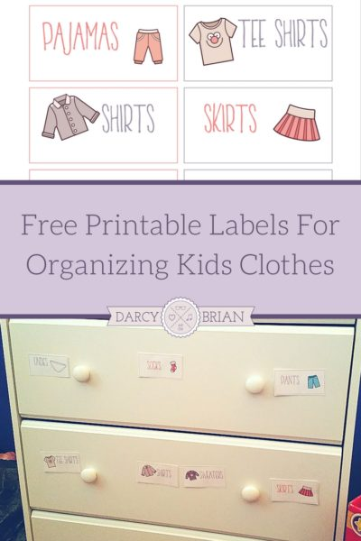 Printable Labels For Organizing Kids Clothes Plus Tips