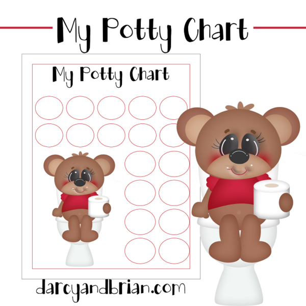 Use this potty training chart with our tips on how to potty train your child.