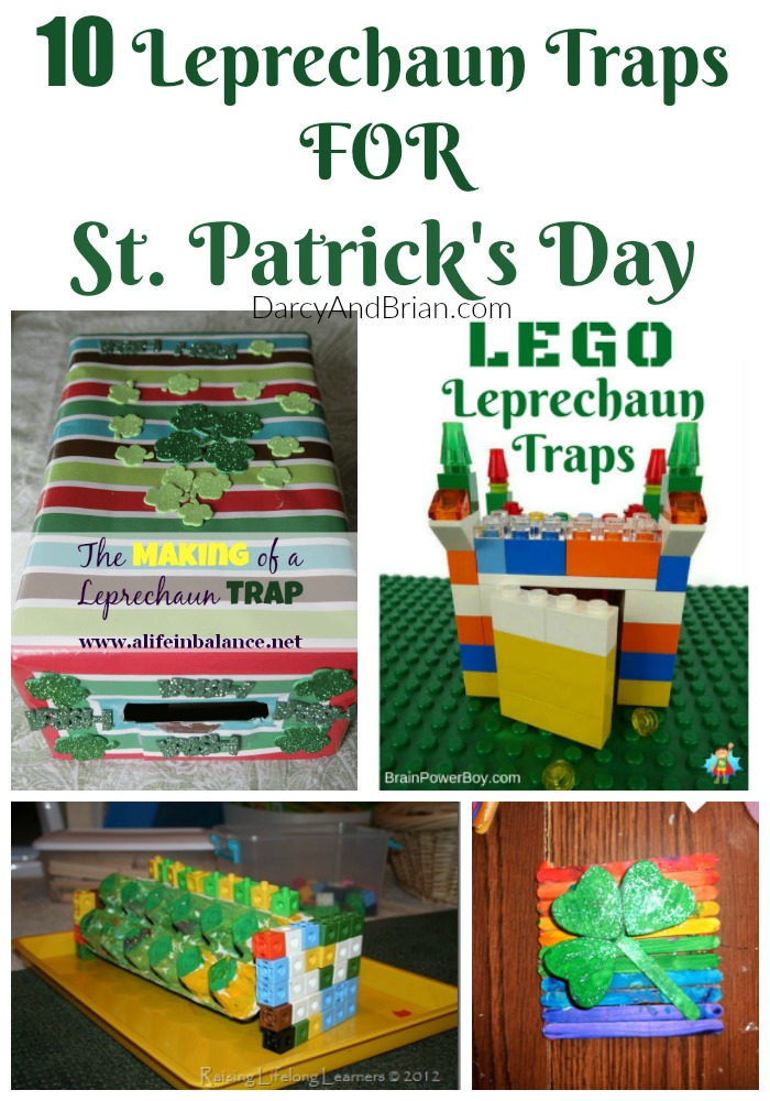 These 10 Leprechaun Trap Ideas are a great way to connect with your kids and have tons of fun on St. Patrick's Day with an easy craft project!