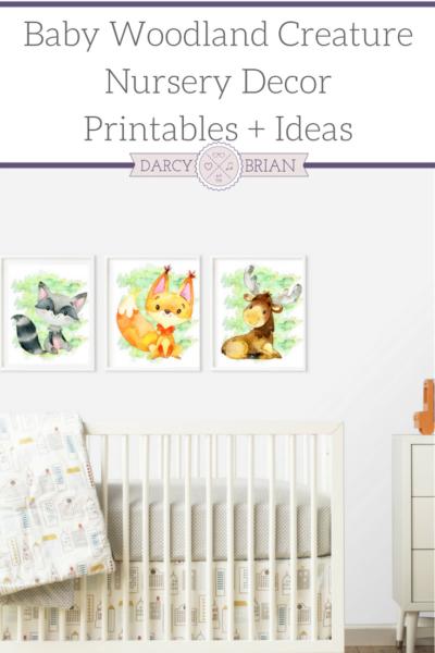 Baby woodland creature nursery decor printables ideas for Room decor printables