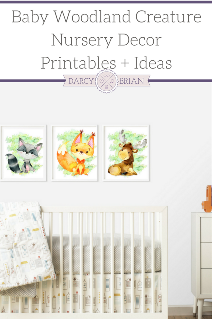 Baby Creature Woodland Nursery Printable Posters