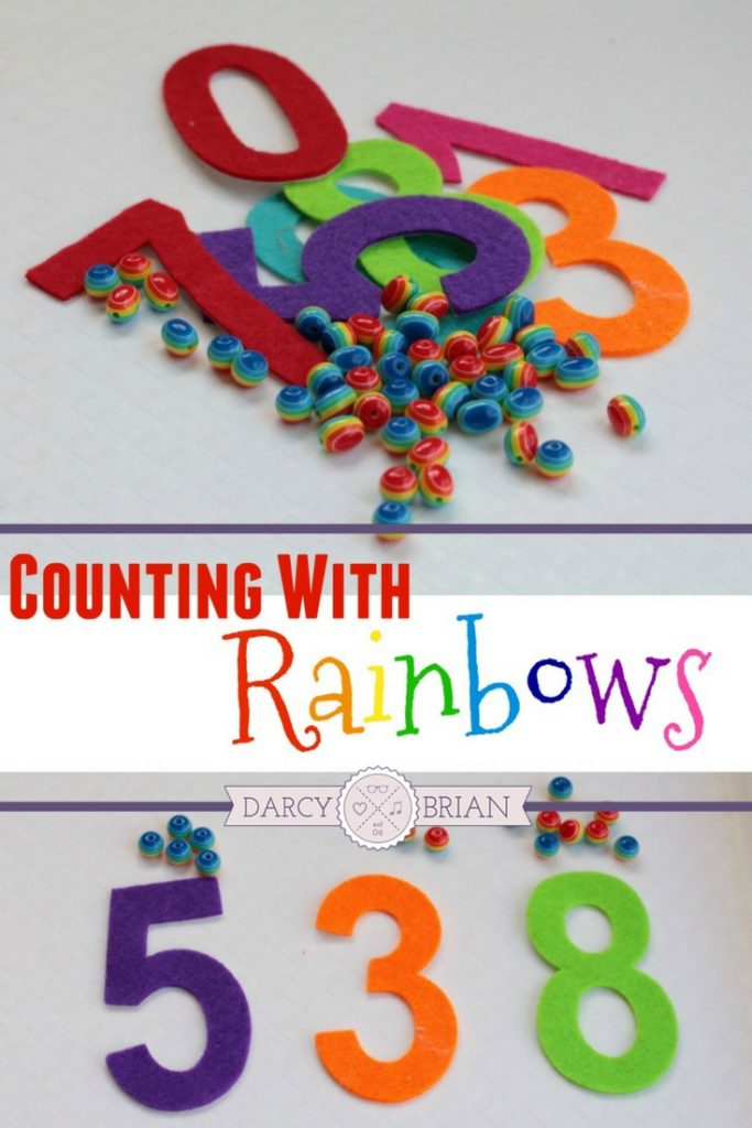 Looking for quick and easy kids activities? If your kids love rainbows, then they will jump at the chance to try this fun rainbow fine motor counting activity. Great way to work on learning numbers and colors too!