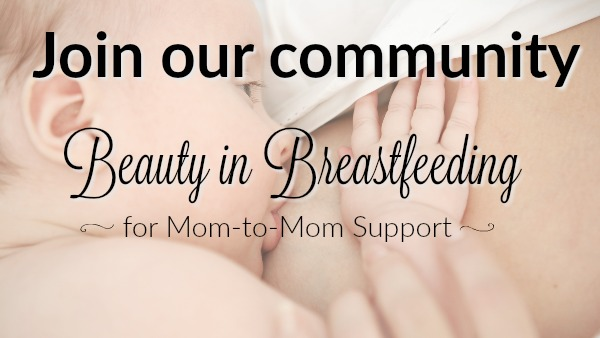 Join the Beauty in Breastfeeding community for mom to mom support and encouragement.