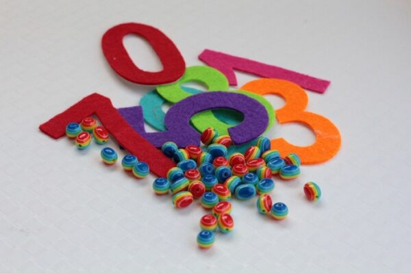 Supplies needed for this fine motor skills counting activity.
