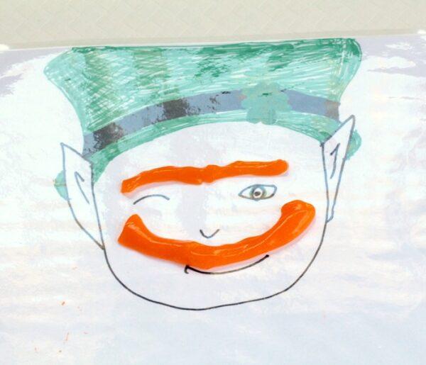 Leprechaun slime sensory play kids activity for St. Patrick's Day