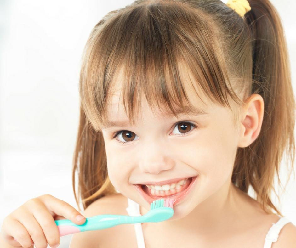 Tips for teaching kids how to brush their teeth plus printable chart.