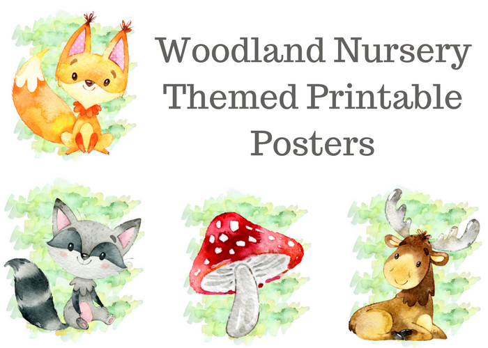 Woodland Nursery Themed Printable Posters are a great addition to your nursery! Grab our free printables to add to your baby nursery!