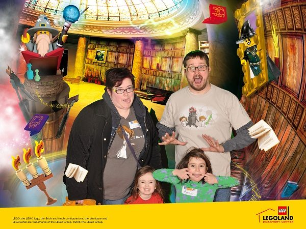 Our silly family photo at LEGOLAND Chicago.