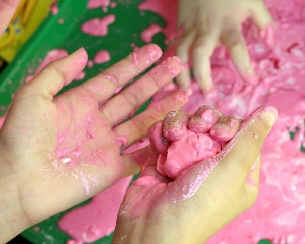 Learning through play with oobleck