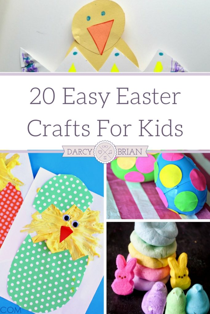 20 Easy Easter Crafts For Kids to make your holiday easy to manage and fun! Grab craft supplies and make adorable crafts for Easter this year!