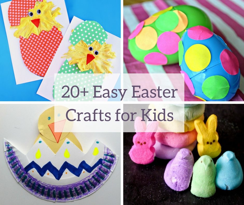 20 easy easter crafts for kids for Easy and fun crafts for kids
