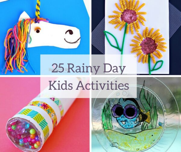 I love these rainy day boredom busters for kids! This list has 25 Indoor Activities For Kids that are perfect for days when the kids can't go outside to play. Keep them entertained with fun, easy, creative kids crafts and activities!