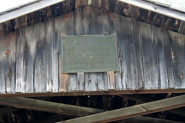 Last Covered Bridge Plaque