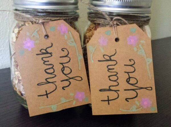 This tasty granola mason jar gift is easy to make.
