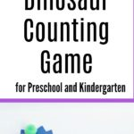 I love this easy Dinosaur Counting game! What a fun learning activity for preschoolers and kindergartners. This simple kids activity is quick and easy to set up and your dino loving kids will have a blast working on their counting at home. Perfect for math center in a preschool or kindergarten classroom too.