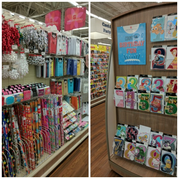 Card and party supplies aisles at Meijer #BirthdaysMadeBrighter #CollectiveBias #Shop