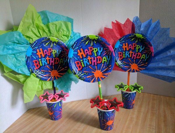 Simple colorful birthday centerpieces #BirthdaysMadeBrighter #CollectiveBias #Shop