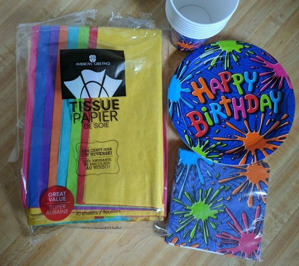 Supplies for simple bright birthday party centerpieces #BirthdaysMadeBrighter #CollectiveBias #Shop