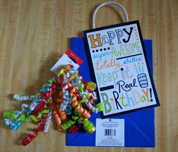 Supplies to make a fun birthday gift bag #BirthdaysMadeBrighter #CollectiveBias #Shop