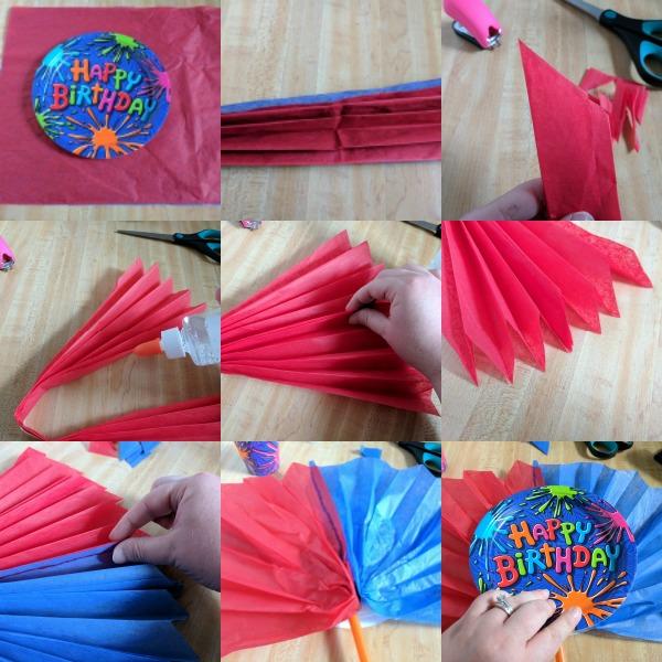 Easy tissue paper birthday decoration tutorial #BirthdaysMadeBrighter #CollectiveBias #Shop