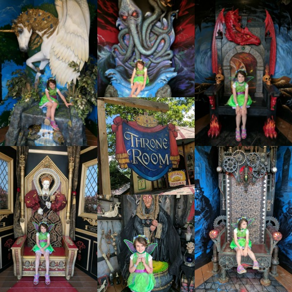 There are six themed thrones to sit on for photographs at Ren Faire