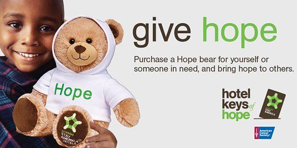 Hope bear donations to help kids battling cancer