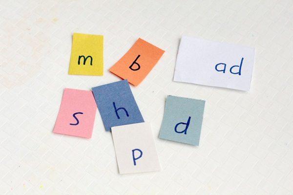 Easy word family flip books for kindergarten